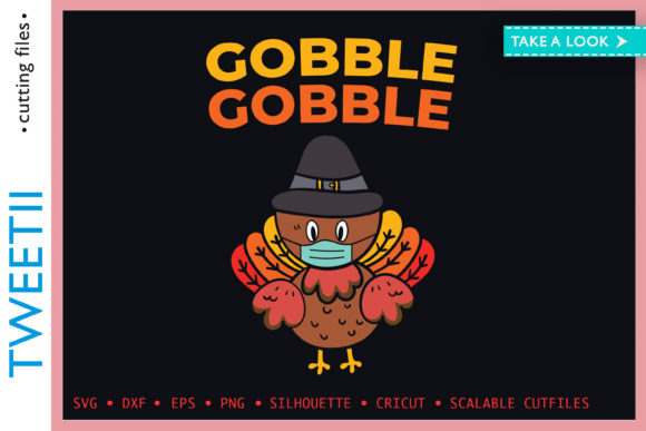 Print on Demand: Gobble Gobble Thanksgiving Turkey Mask Graphic Crafts By Tweetii