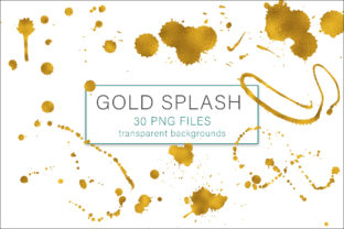 Print on Demand: Gold Splash Graphic Objects By AS Digitale
