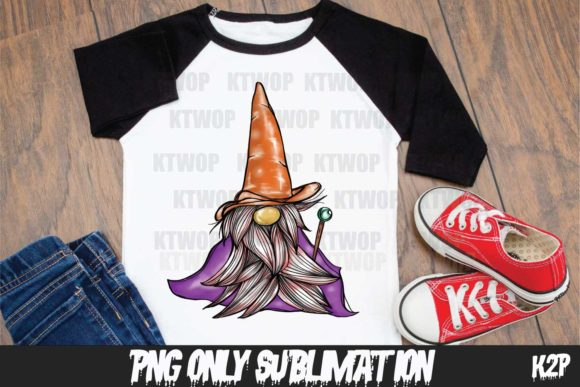 Print on Demand: Halloween-Gnome Witch Handdraw PNG Graphic Crafts By KtwoP