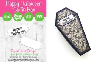 Print on Demand: Happy Halloween Coffin Box Graphic 3D SVG By rushton_tracy