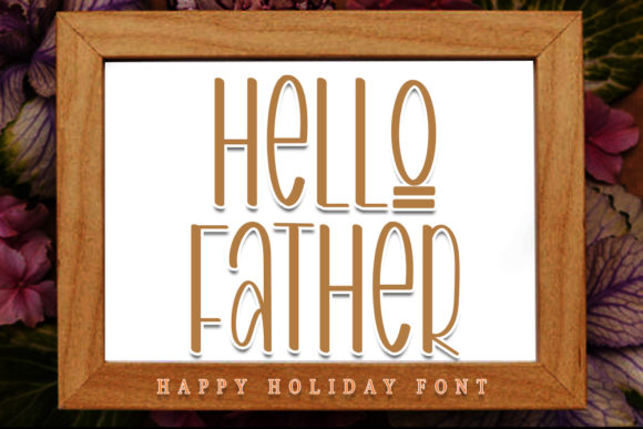 Print on Demand: Hello Father Script & Handwritten Font By NYA Letter