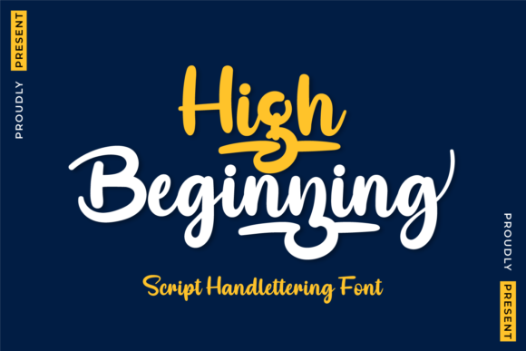 Print on Demand: High Beginning Script & Handwritten Font By twinletter