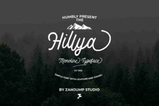 Print on Demand: Hillya Script & Handwritten Font By zamjump