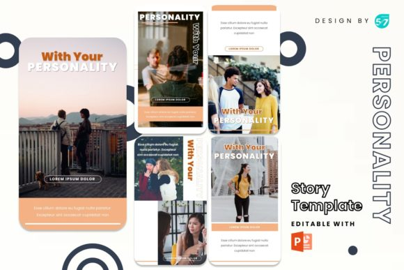 Instagram Stories Template - Personality Graphic Presentation Templates By 57creative