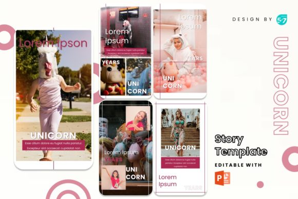 Instagram Stories Template - Unicorn Graphic Presentation Templates By 57creative
