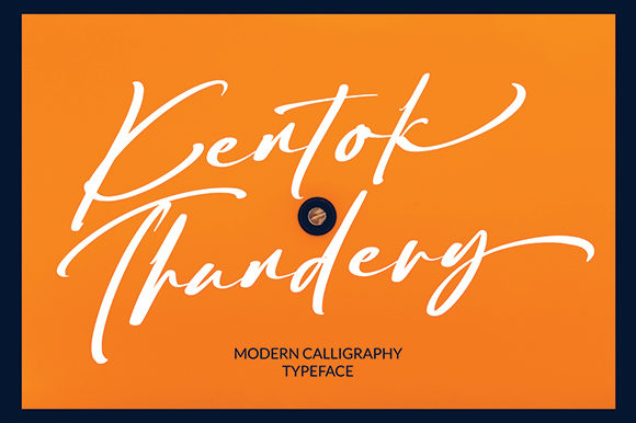 Print on Demand: Kentok Thundery Script & Handwritten Font By missinklab