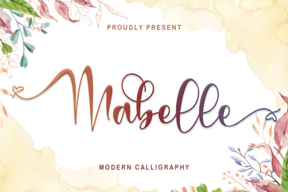 Print on Demand: Mabelle Script & Handwritten Font By thomasaradea