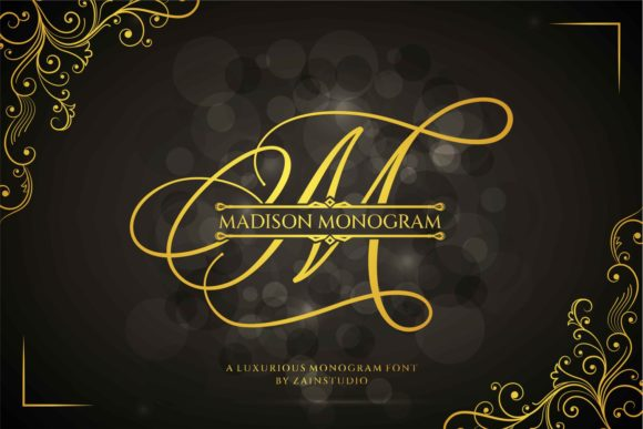Print on Demand: Madison Monogram Display Font By zainstudio