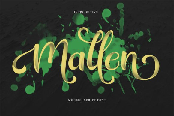 Print on Demand: Mallen Script & Handwritten Font By Alit Design