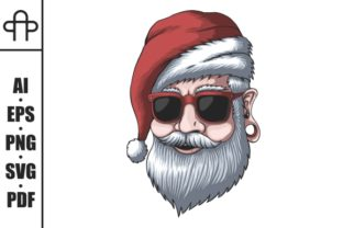 Print on Demand: Man Wearing a Santa Hat for Christmas Graphic Illustrations By Andypp
