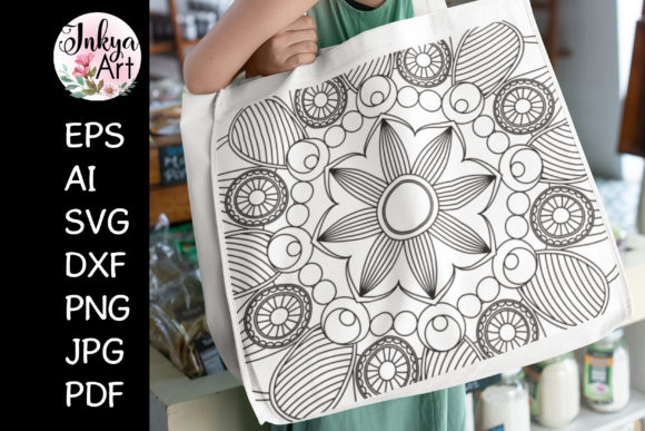 Mandala Art SVG Sublimation for Cricut Graphic Crafts By InkyaArt
