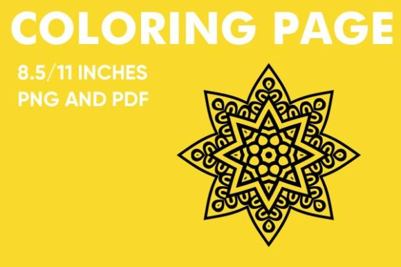 Print on Demand: Mandala Coloring Book Page Graphic Coloring Pages & Books Kids By Mah Moud
