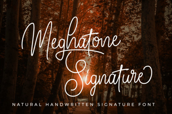 Print on Demand: Meghatone Signature Script & Handwritten Font By Madatype Studio