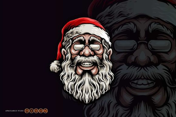 Merry Christmas Santa Claus Mascot Graphic Crafts By artgrarisstudio