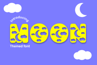 Print on Demand: Moon Decorative Font By Infontree 1