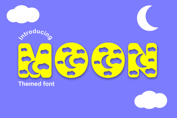 Print on Demand: Moon Decorative Font By Infontree