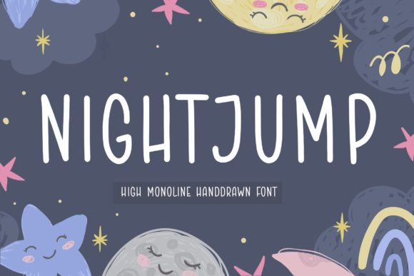 Print on Demand: Night Jump Script & Handwritten Font By Balpirick