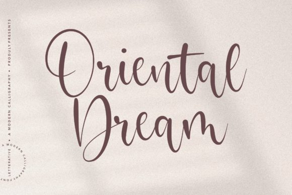 Print on Demand: Oriental Dream Script & Handwritten Font By letterativestudio