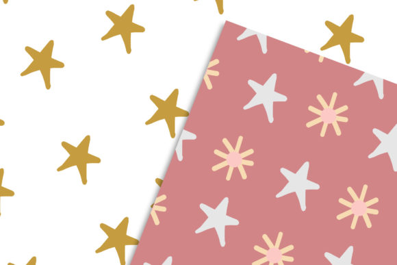 Pink Scandinavian Christmas Patterns Set Graphic Preview