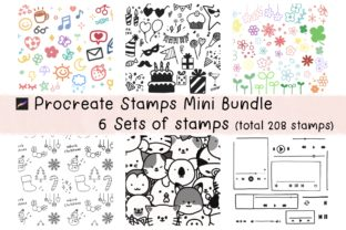 Procreate Stamps Mini Bundle Cute Doodle Graphic Brushes By Jyllyco