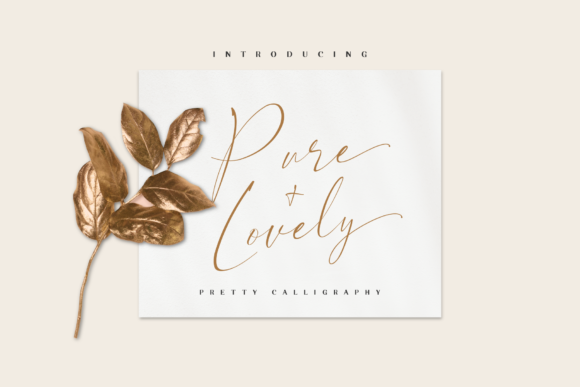 Print on Demand: Pure & Lovely Script & Handwritten Font By JavaPep