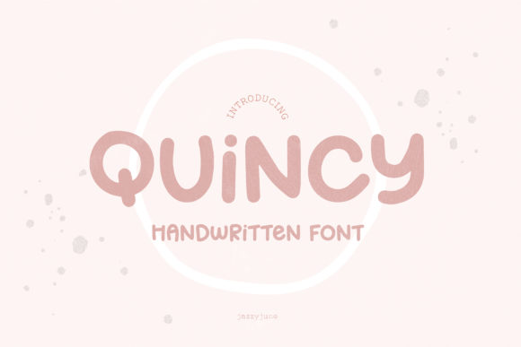 Print on Demand: Quincy Script & Handwritten Font By jazzyjune