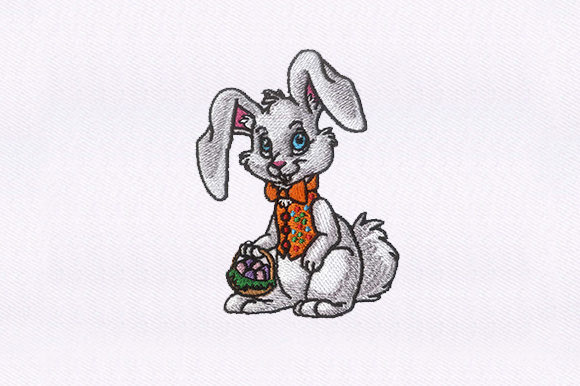 Rabbit Easter Embroidery