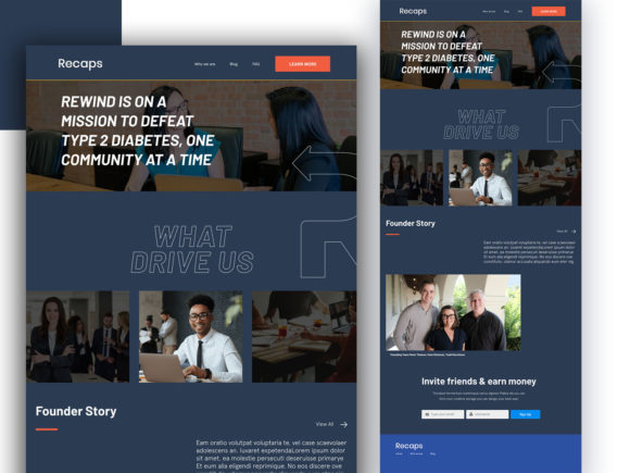 Recaps About Us Page Graphic UX and UI Kits By artgalaxy