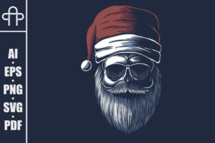 Print on Demand: Skull Wearing a Santa Hat Graphic Illustrations By Andypp