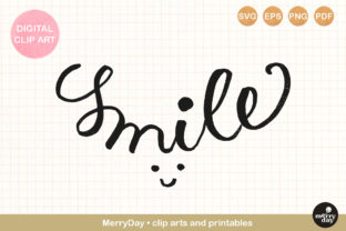 Smile Hand Drawn Lettering Graphic Crafts By MerryDay