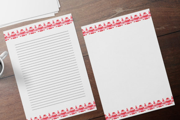 Stationery Papers & Christmas Sweaters Graphic Print Templates By Aneta Design