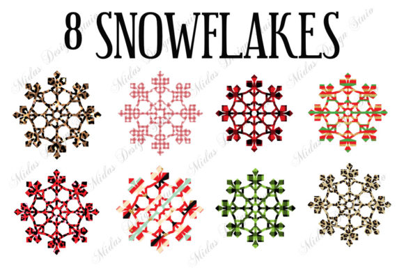 Sublimation - 8 Snowflakes Graphic Crafts By MidasStudio