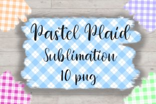 Print on Demand: Sublimation Pastel Plaid Background Graphic Backgrounds By PinkPearly