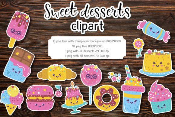 Sweet Desserts Clipart Graphic Illustrations By Анна Конева