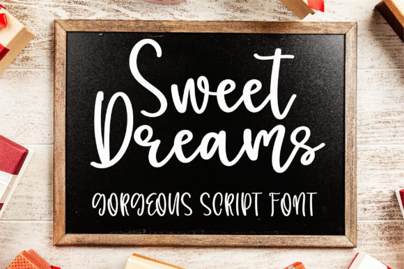 Print on Demand: Sweet Dreams Script & Handwritten Font By BitongType