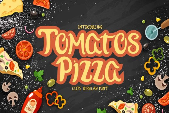 Print on Demand: Tomatos Pizza Display Font By Alfinart