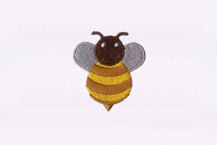 Tumbling Honey Bee Bugs & Insects Embroidery Design By DigitEMB