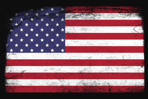 Print on Demand: USA National Flag Distressed Graphic Crafts By atlasart