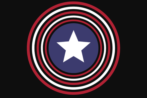 Print on Demand: USA Circled Star Patriotic Sublimation Badge Graphic Crafts By atlasart