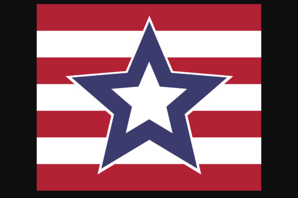 Print on Demand: USA Star Flag Patriotic Sublimation Badge Graphic Crafts By atlasart