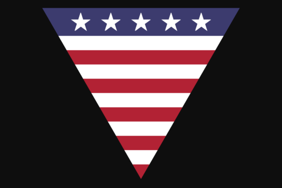 Print on Demand: USA Triangle Flag Patriotic Sublimation Badge Graphic Crafts By atlasart