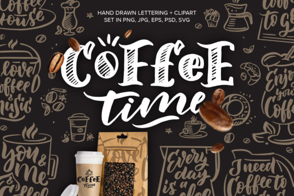 Print on Demand: Vintage Phrases - Coffee Time Graphic Illustrations By lesartbiz