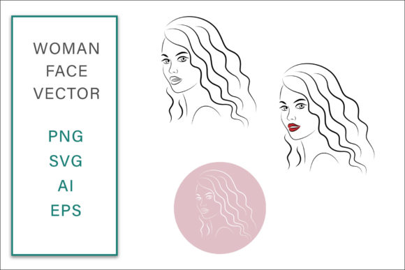 Woman Face Vector Illustration Graphic Crafts By AS Digitale