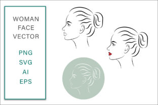 Print on Demand: Woman Face Vector Line Art Graphic Crafts By AS Digitale