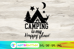 Camping is My Happy Place, Camping Svg Graphic Crafts By artinrhythm