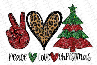 Peace Love Christmas Sublimation Graphic Crafts By riryndesign