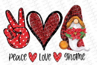Peace Love Gnome Sublimation Graphic Crafts By riryndesign