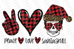 Peace Love Santa Skull Mom Sublimation Graphic Crafts By riryndesign