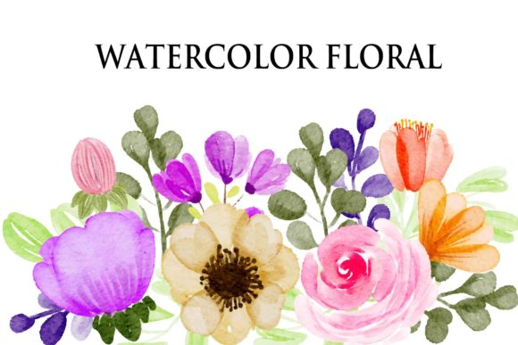 Print on Demand: Watercolour Flower Collection EPS Graphic Illustrations By goodigital