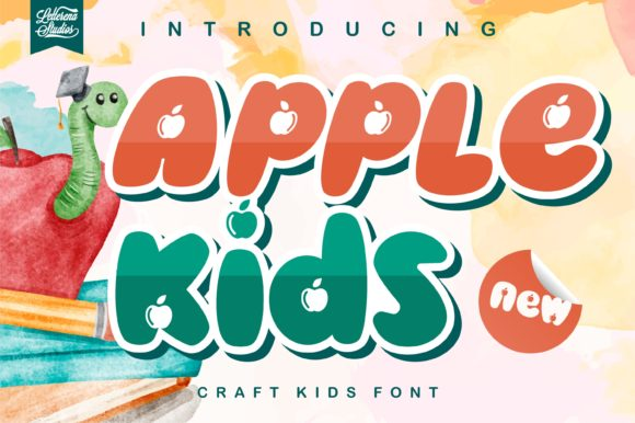 Print on Demand: Apple Kids Display Font By letterenastudios